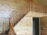 Open Stairway to Loft in Cape Chalet