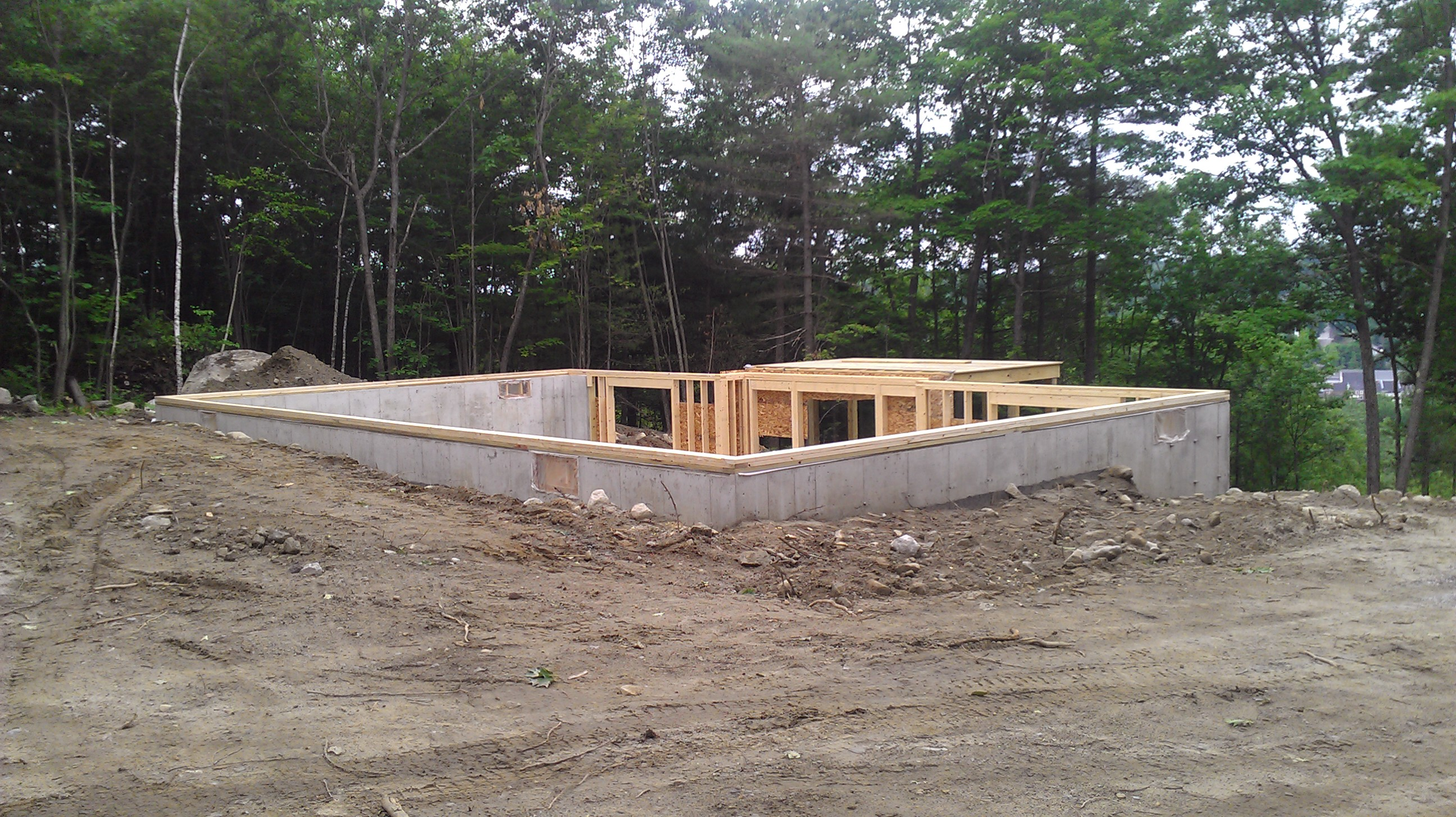 June 2012 brookewood builders for Modular homes with basement
