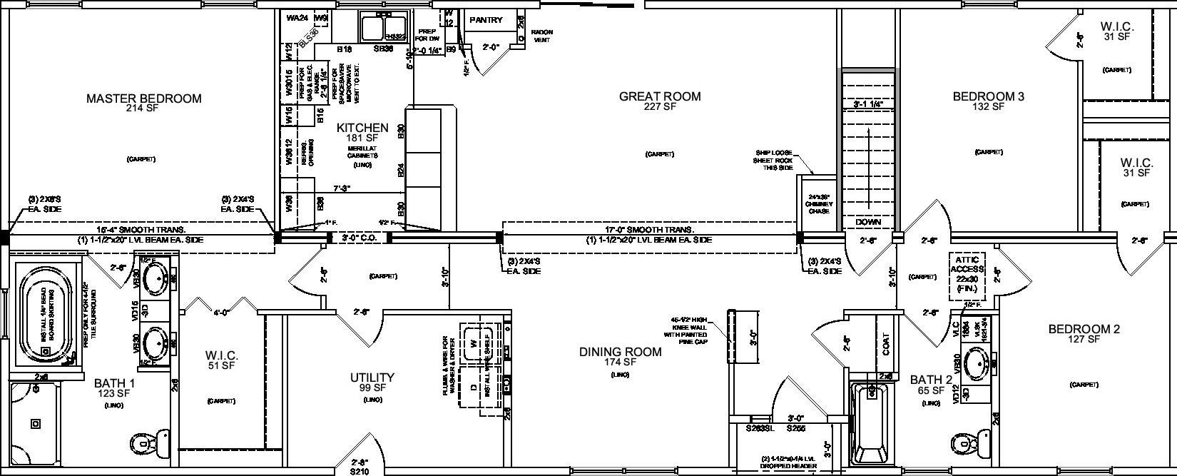 Ranch style modular home floor plans house design plans for Modular ranch house plans
