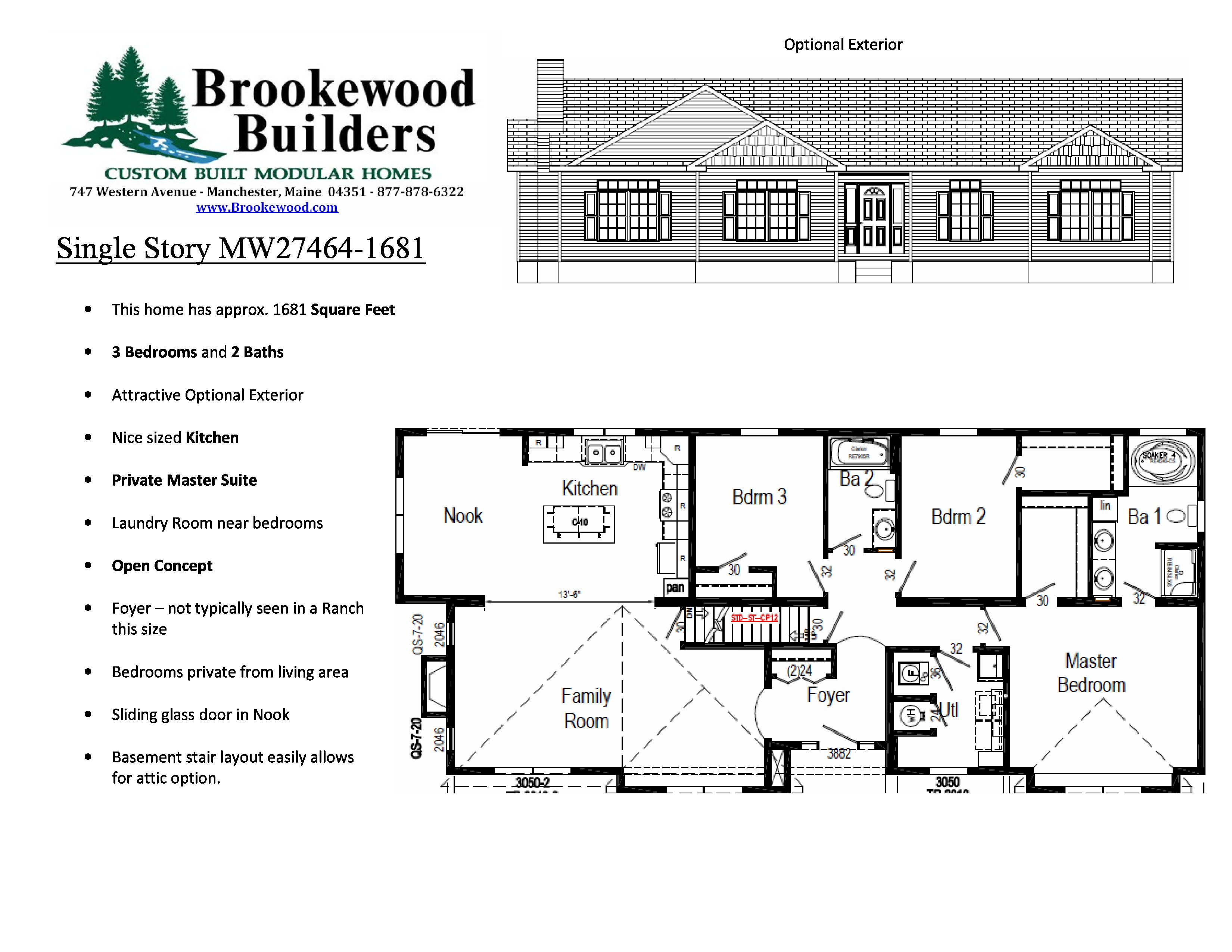 June 2013 – Plan of the Month | Brookewood Builders ... Rambler House Plans With Open Concept on open contemporary house plans, open floor plan house designs, open two-story house plans,